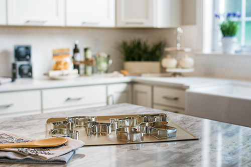 Detail photography of the kitchen for a model home advertisement